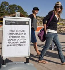 Grand Canyon trails closed for exclusive use of the American Emperor and family